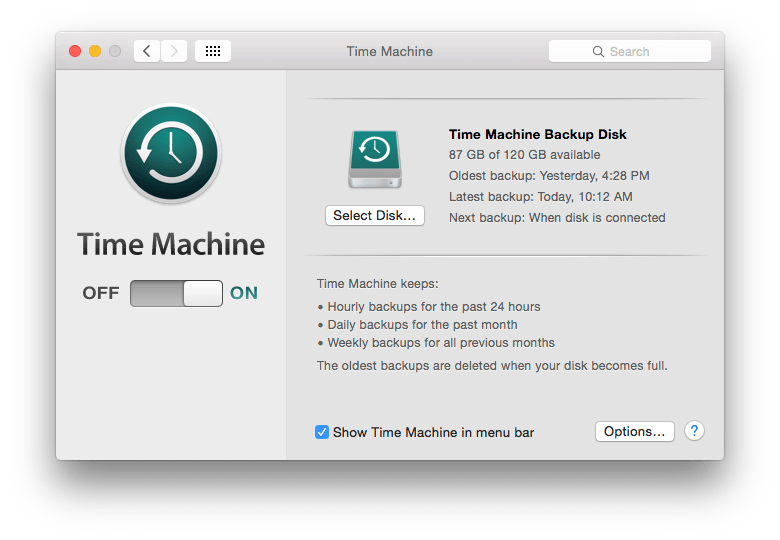 macos time machine