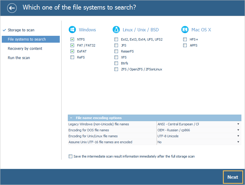 UFS Explorer Standard Recovery install step 5