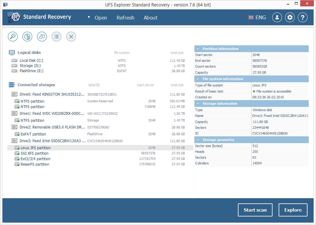 UFS Explorer Standard Recovery-Screenshot