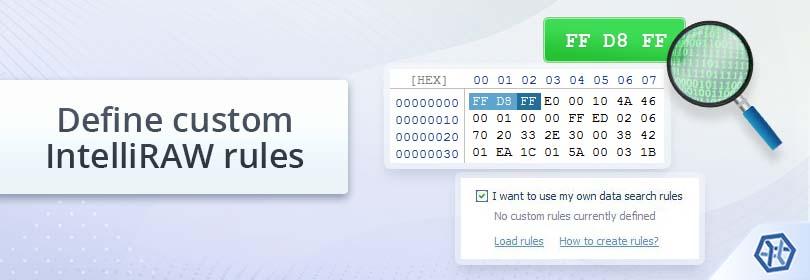 Create custom IntelliRAW rules