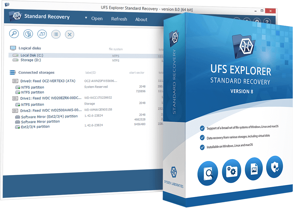 Universal software tool for most common data recovery cases