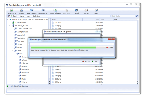 Raise Data Recovery for HFS+ Screenshot