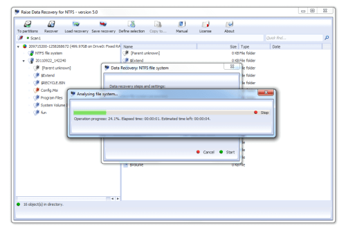 Raise Data Recovery for NTFS Screenshot
