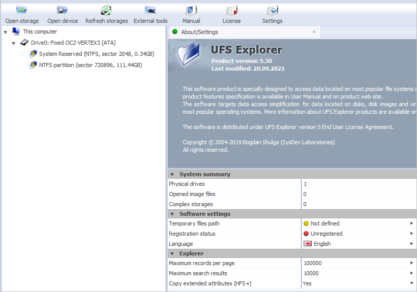 Run UFS Explorer Standard Access