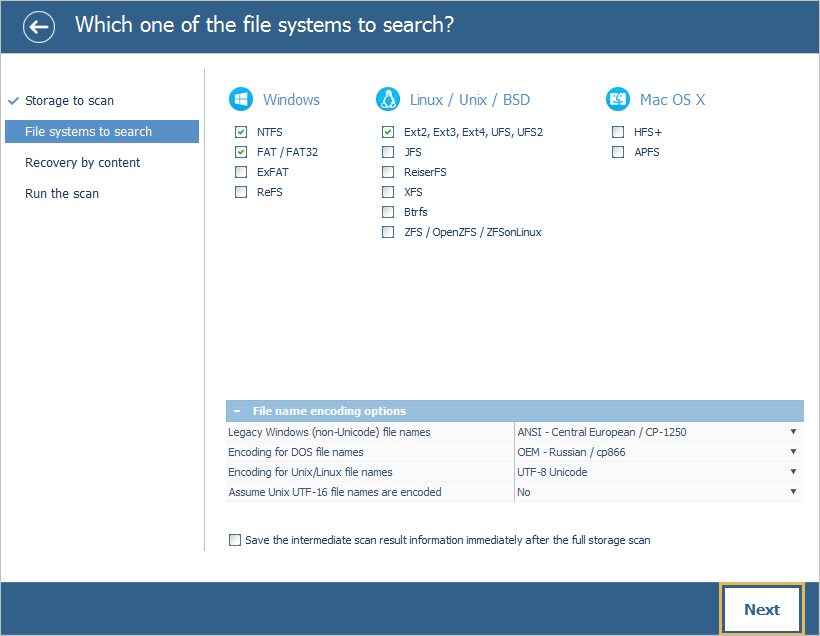 UFS Explorer Standard Recovery screenshot