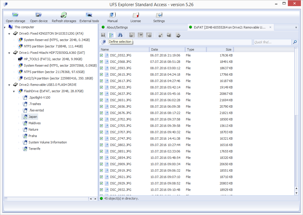 UFS Explorer Standard Access screenshot