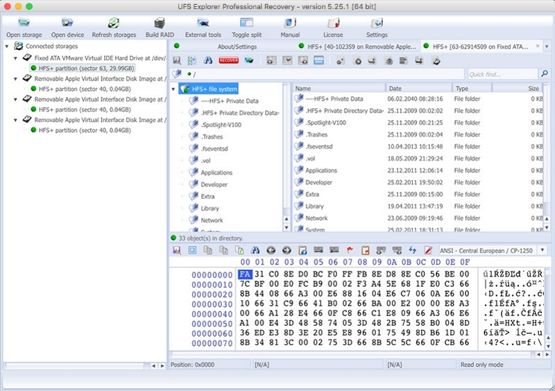 Software for data recovery professionals