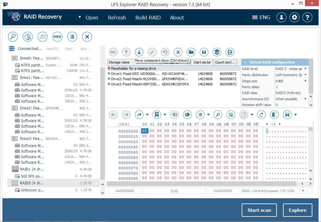 UFS Explorer RAID Recovery (Linux) full screenshot