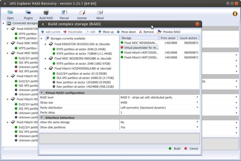 UFS Explorer RAID Recovery (Linux)