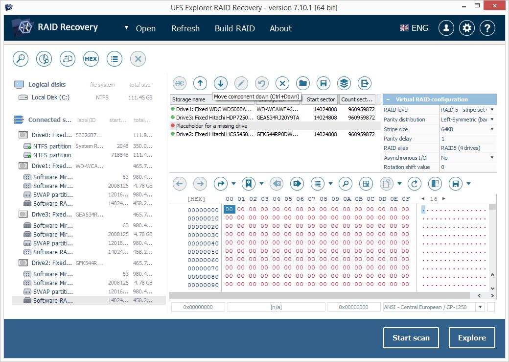 UFS Explorer RAID Recovery screenshot