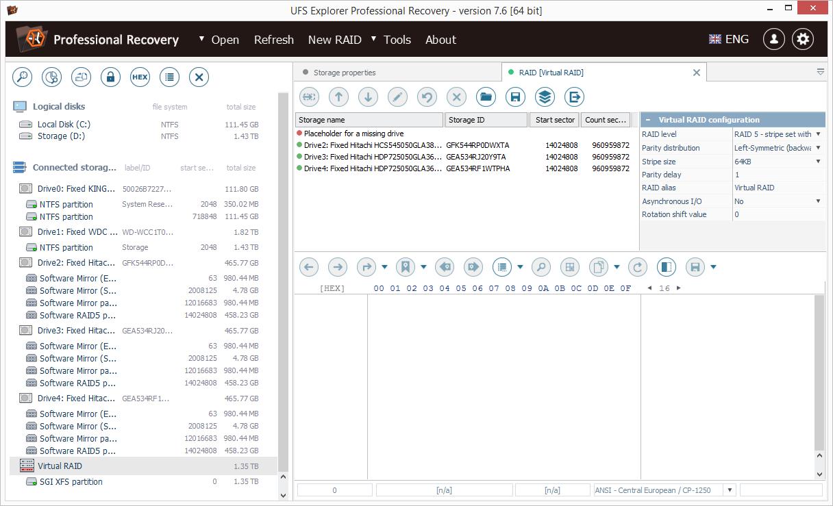 Скриншот UFS Explorer Professional Recovery